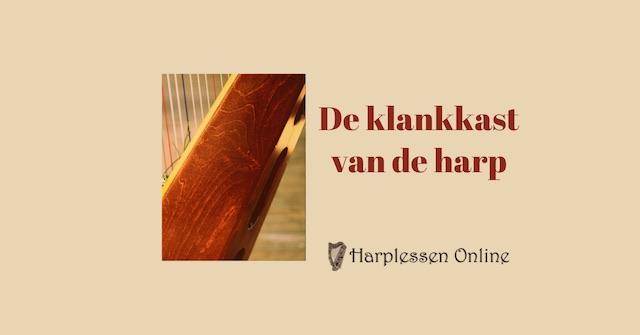 de klankkast van de harp