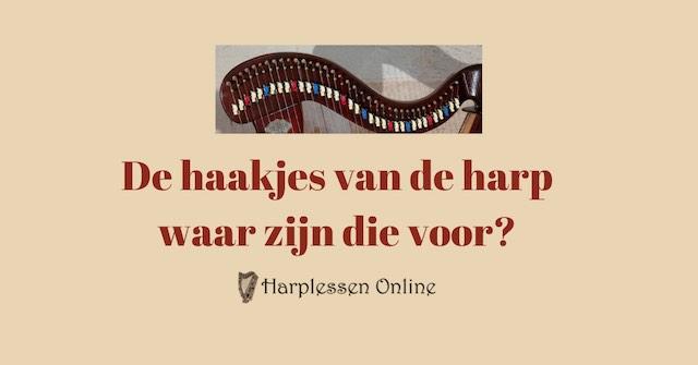 de haakjes van de harp